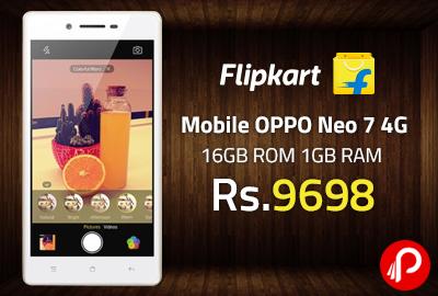 innovative design a4f5e 399b3 Mobile OPPO Neo 7 4G 16GB ROM 1GB RAM just at Rs.9698 - Flipkart