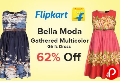 Dress Gathered Multicolor Bella Moda 62% off on at Rs.757 - Flipkart