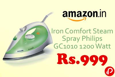 Iron Comfort Steam Spray Philips GC1010 1200 Watt Just Rs.999 - Amazon