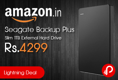 Seagate Backup Plus Slim 1TB External Hard Drive just Rs.4299 - Amazon