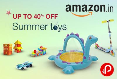 Summer Toys Upto 40% off - Amazon