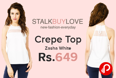 Crepe Top Zasha White