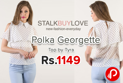 Polka Georgette Top by Tyra just Rs.1149 - StalkBuyLove