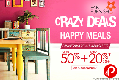 Dining Sets Up to 50% + Extra 20% | Crazy Deals - FabFurnish