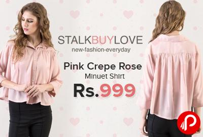 Pink Crepe Rose Minuet Shirt
