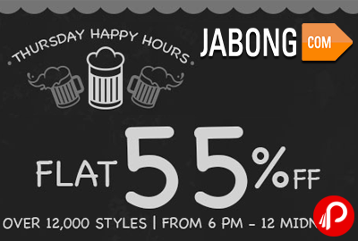 Flat 55% off Over 12000 Styles | Thursday Happy Hours - Jabong
