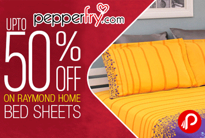 Raymond Home Bed Sheets Upto 50% off - Pepperfry