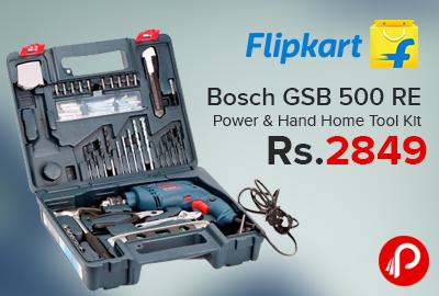 Bosch GSB 500 RE Power & Hand Home Tool Kit @ Just Rs.2849 - Flipkart