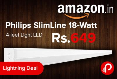 Philips SlimLine 18-Watt 4 feet Light LED Just Rs.649 - Amazon