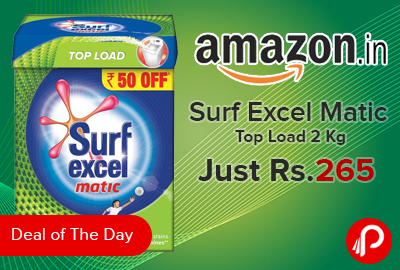 Surf Excel Matic Top Load 2 Kg Just Rs.265