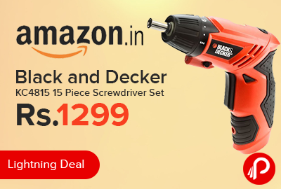black and decker kc4815 15 piece screwdriver set just. Black Bedroom Furniture Sets. Home Design Ideas