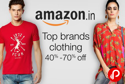 Top Brands Clothing 40% - 70% off - Amazon