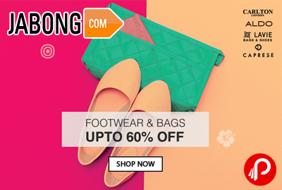 Footwear & Bags Upto 60% off - Jabong