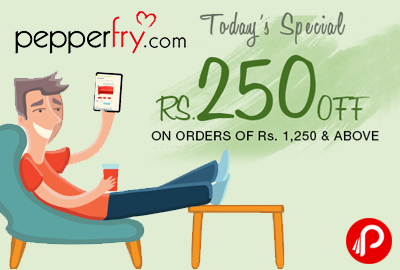 Sitewide Discount Rs.250 off on orders of 1250 | Buy Happy Sale - Pepperfry
