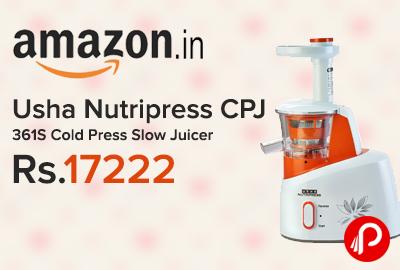 Usha Nutripress CPJ 361S Cold Press Slow Juicer