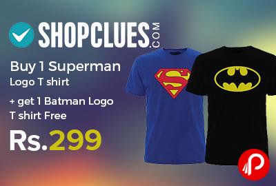 Get 1 Batman Logo T shirt Free