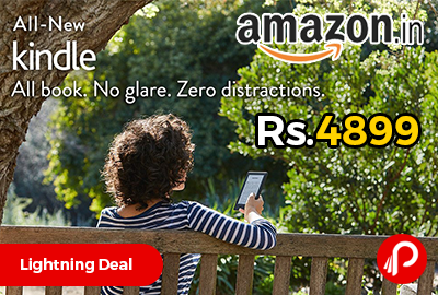 "All-New Kindle E-reader 6"" Glare-Free Touchscreen, Wi-Fi just Rs.4899 - Amazon"