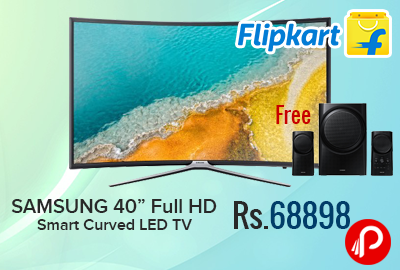 "SAMSUNG 40"" Full HD Smart Curved LED TV Just Rs.68898 - Flipkart"