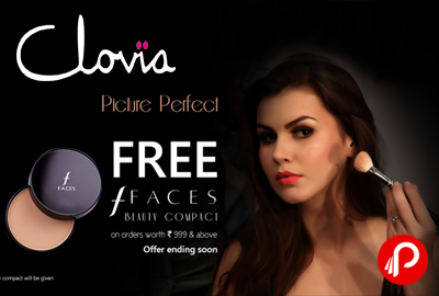 Free Faces Beauty Compact on orders worth Rs.999 - Clovia