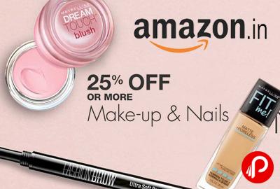 Make-Up & Nails 25% off - Amazon