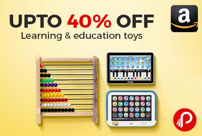 Learning & Education Toys upto 40% off - Amazon