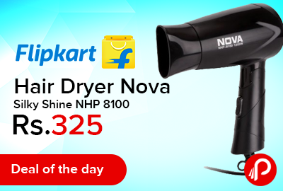 Hair Dryer Nova Silky Shine NHP 8100 just Rs.325- Flipkart