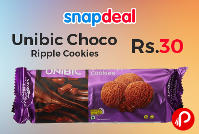 Unibic Choco Ripple Cookies just Rs.30 | Buy 1 Get 1 Free - Amazon