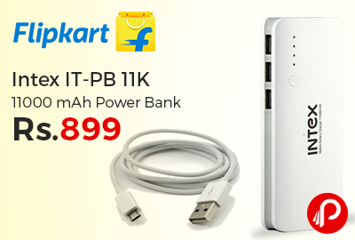 Intex IT-PB 11K 11000 mAh Power Bank Special Price Rs.899 - Flipkart