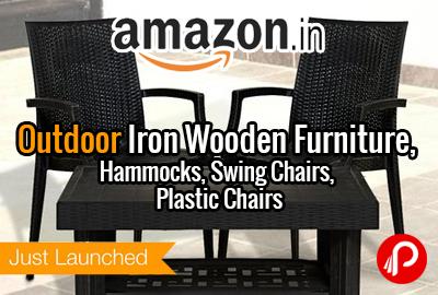 Outdoor Iron Wooden Furniture, Hammocks, Swing Chairs, Plastic Chairs - Amazon