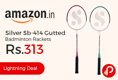 Silver Sb-414 Gutted Badminton Rackets Just at Rs.313 - Amazon