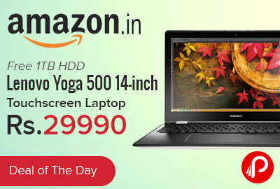 Lenovo Yoga 500 14-inch Touchscreen Laptop just at Rs.29990 - Amazon