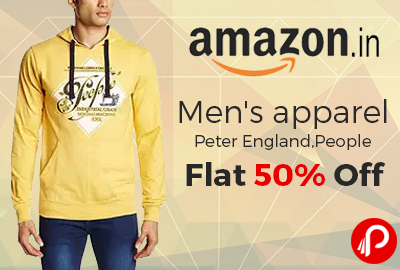 Men's apparel Peter England,People Flat 50% off - Amazon