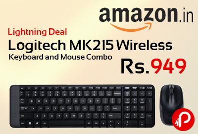 Logitech MK215 Wireless Keyboard and Mouse Combo Just Rs.949 - Amazon