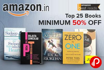 Top 25 Books Minimum 50% off