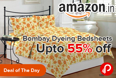 Bombay Dyeing Bedsheets Upto 55% off - Amazon