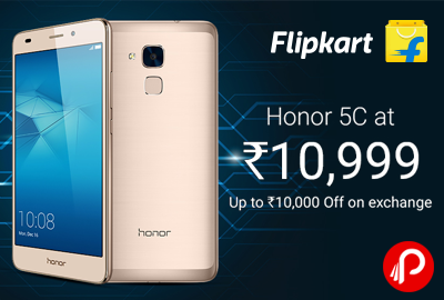 e4b899db917 Honor 5C Mobile just at Rs.10999 + Upto Rs.10000 off on Exchange – Flipkart