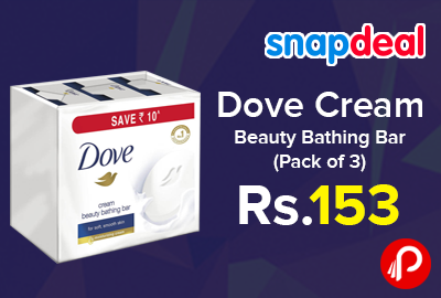 Dove Cream Beauty Bathing Bar Pack Of 3 Just At Rs 153