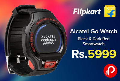 Alcatel Go Watch Black & Dark Red Smartwatch Just Rs.5999 - Flipkart