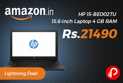 HP 15-BE002TU 15.6-inch Laptop 4 GB RAM Just Rs.21490 - Amazon