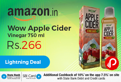 Wow Apple Cider Vinegar 750 ml just Rs.266 - Amazon
