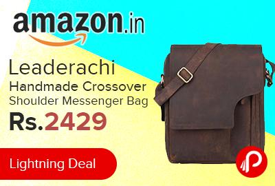 c86267b108 Leaderachi Handmade Crossover Shoulder Messenger Bag just Rs.2429 – Amazon