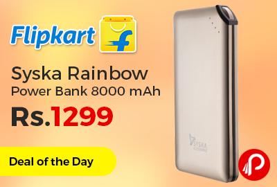 Syska Rainbow Power Bank 8000 mAh Just Rs.1299 - Flipkart