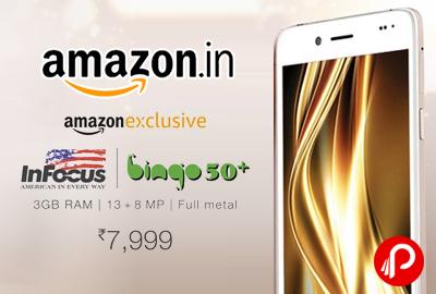 InFocus Bingo 50+ Mobile 3GB RAM Just Rs.7999 - Amazon
