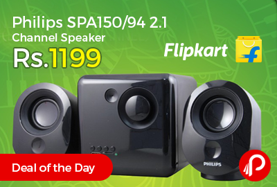 Philips SPA150/94 2.1 Channel Speaker Just Rs.1199 - Flipkart