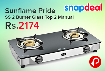 Sunflame Pride SS 2 Burner Glass Top 2 Manual