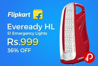 Eveready HL 51 Emergency Lights 36% off Just Rs.999 - Flipkart