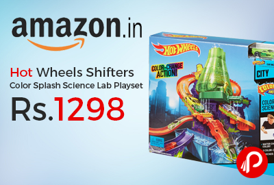 Hot Wheels Shifters Color Splash Science Lab Playset Just Rs.1298 - Amazon