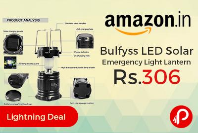 Bulfyss LED Solar Emergency Light Lantern Just Rs.306 - Amazon