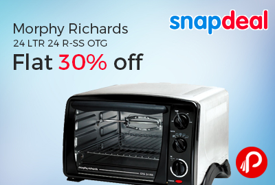 Morphy Richards 24 LTR 24 R-SS OTG Flat 30% off - Snapdeal