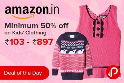 Minimum 50% off on Kids' Clothing